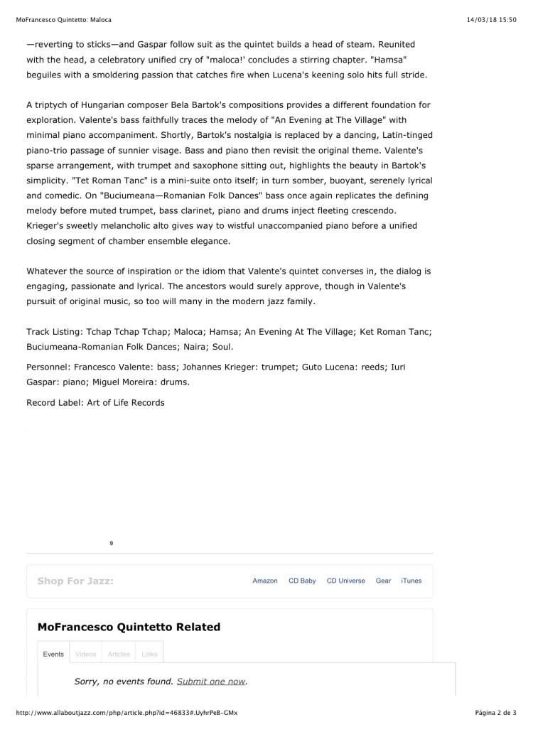 MoFrancesco Quintetto: Maloca 2