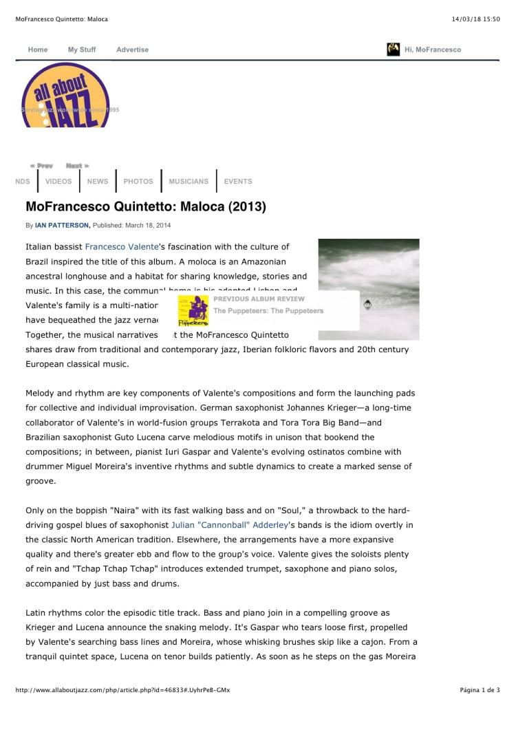 MoFrancesco Quintetto: Maloca